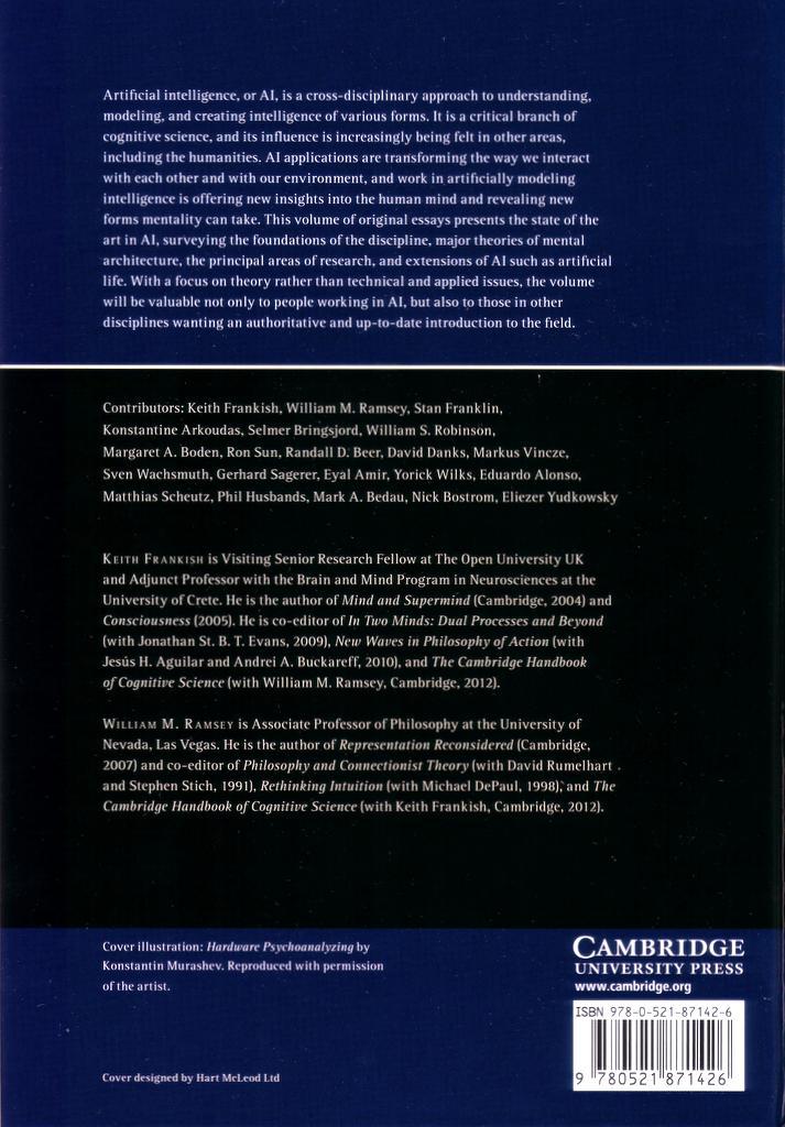 Cambridge Handbook of AI back cover