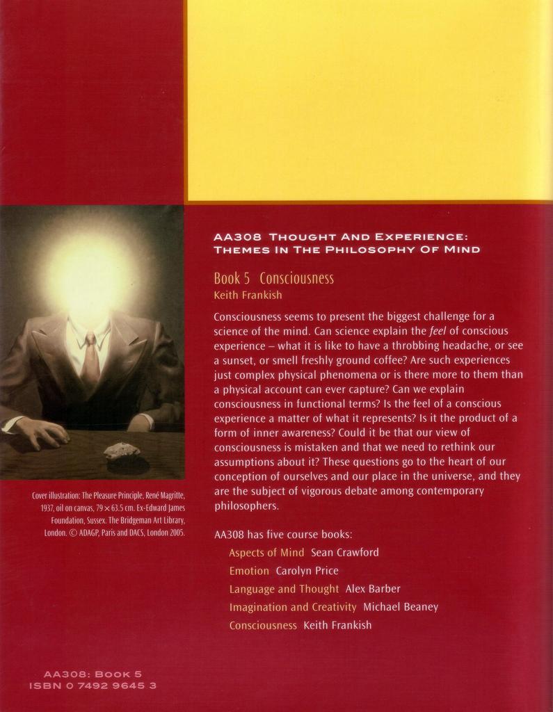 Consciousness back cover